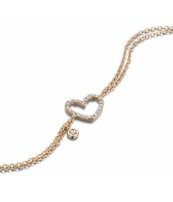 Schaap en Citroen Diamonds armband hart open