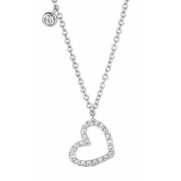 Necklace heart open