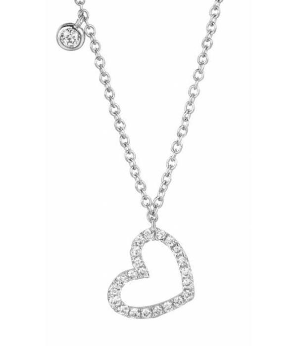Schaap en Citroen Highlights Necklace heart open