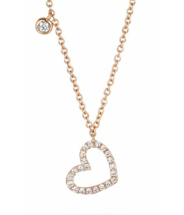 Schaap en Citroen Diamonds Necklaces Heart Open (234-3596-G)