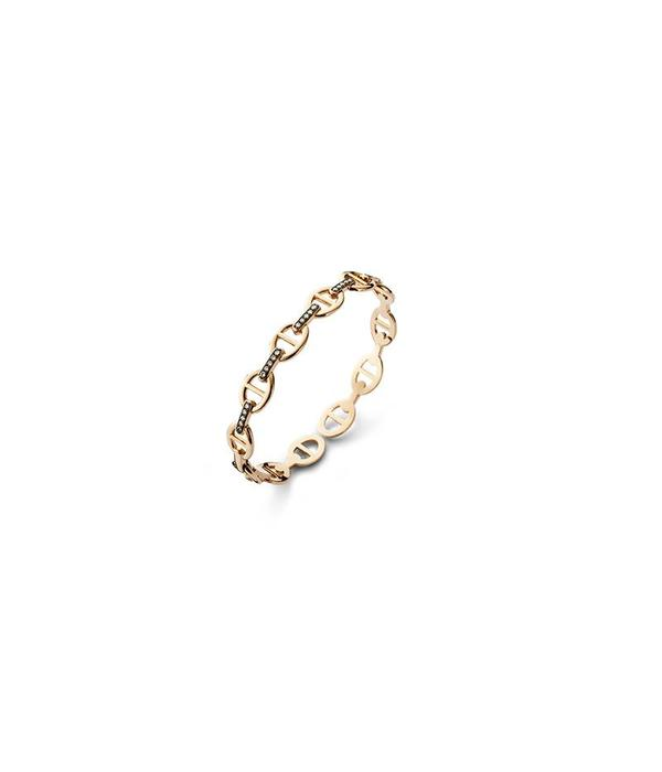 Schaap en Citroen Highlights Bracelet gourmet link small brown pave