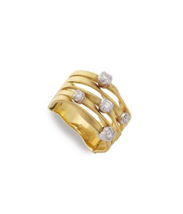 Marco Bicego Marrakech 18K Yellow Gold 5 Rows Rings