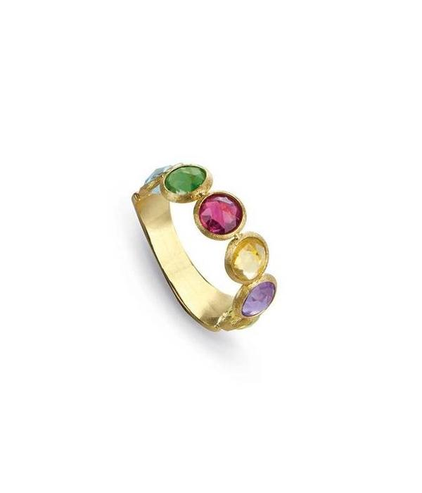 Marco Bicego Jaipur 18 Krt. Yellow Gold & 1 rij with mix van edelstenen ring