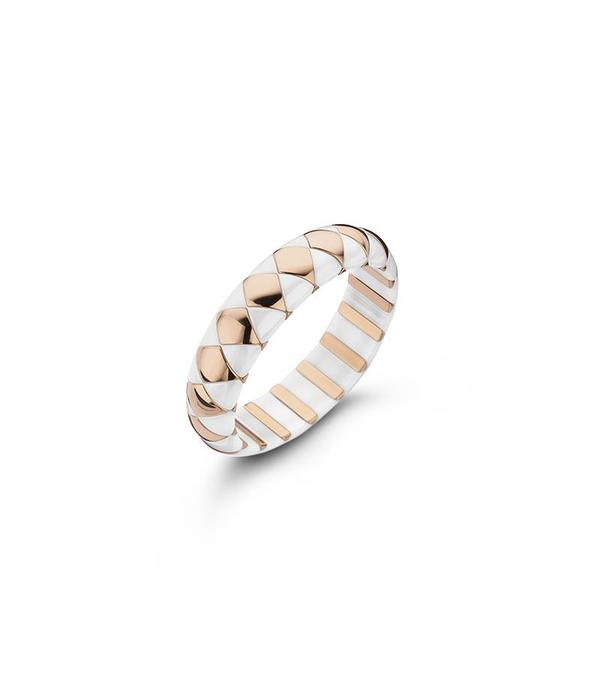 Roberto Demeglio armband wit keramiek glans en rosé doublé