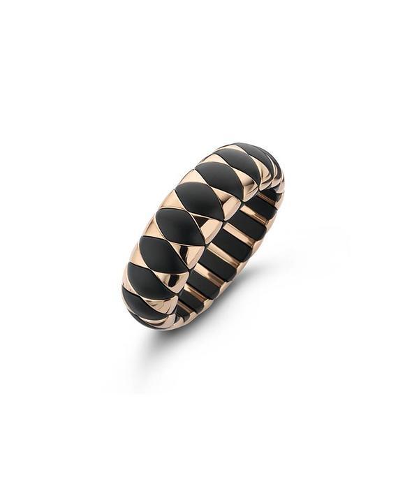 Roberto Demeglio bracelet black ceramic mat and rosé doublé