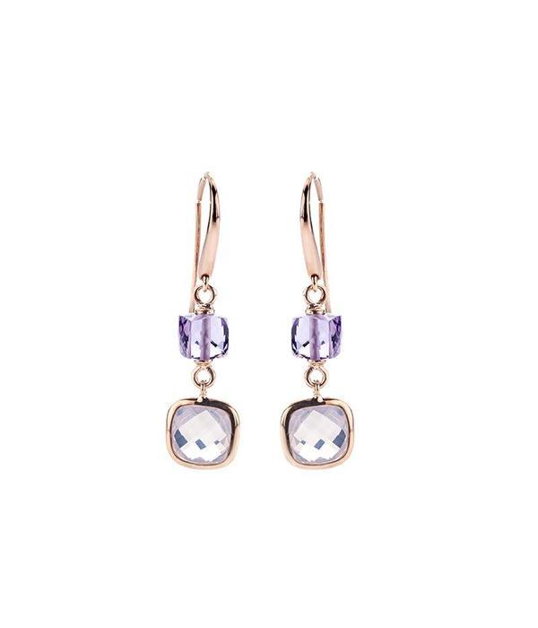 Schaap en Citroen Colours rose gold 18 carat earrings
