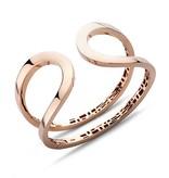 Schaap en Citroen rose gold open bracelet