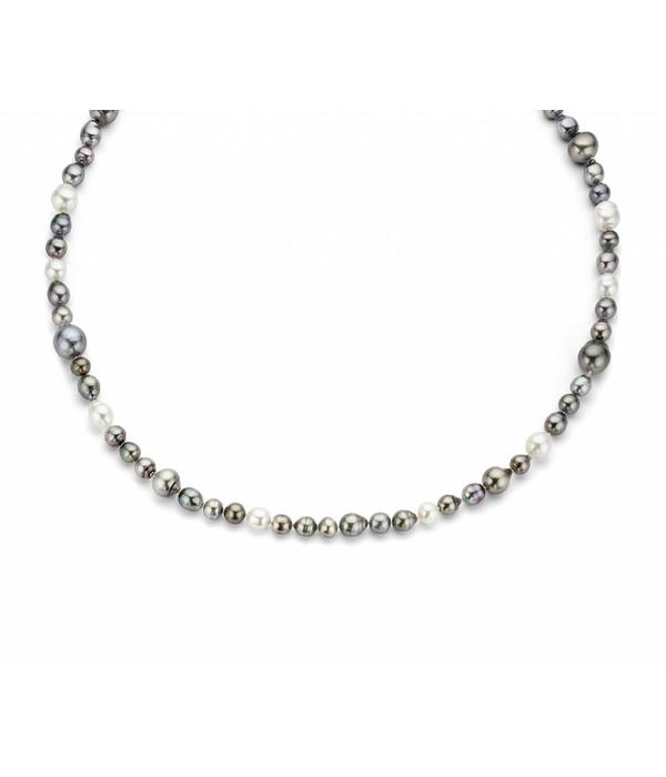 SC Jewellery white gold collier with tahiti pearls