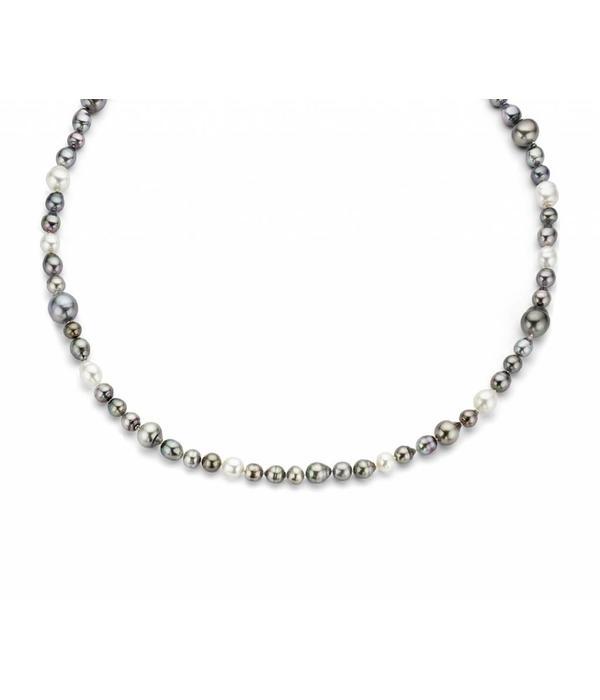 Schaap en Citroen Pearls white gold collier with tahiti pearls