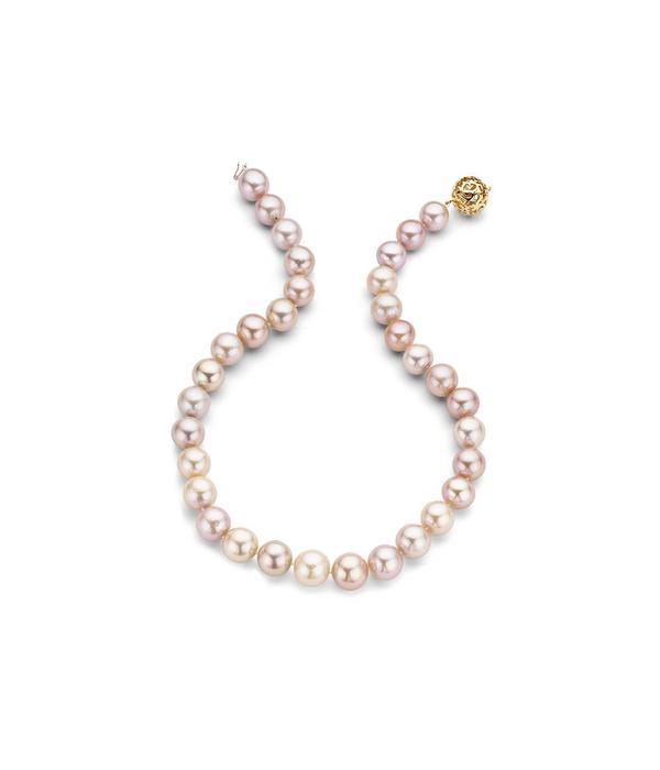 Schaap en Citroen rose gold 18 krt. Pearls collier multicolour