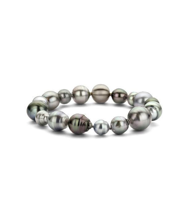 Schaap en Citroen Pearls stainless steel bracelet Tahiti