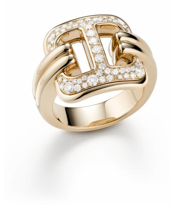 Mattioli Liason Rose Gold Ring with Diamond [MAN112R010]