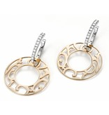 Mattioli Siriana rose gold earrings with diamond [MOR083M034I]