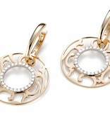 Mattioli Siriana rose gold earrings with diamond [MOR083M035I]