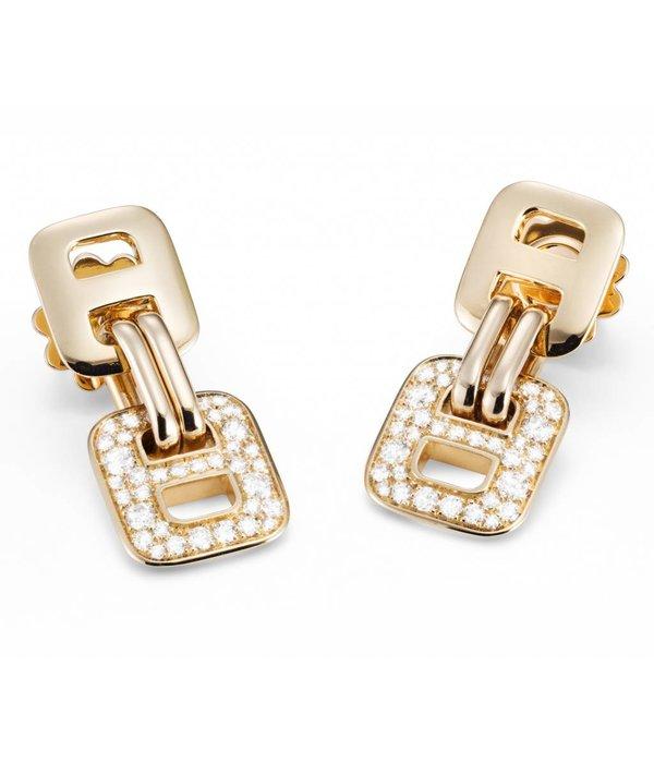 Mattioli Liason rosegouden oorhangers met diamant [MOR112R010]