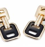 Mattioli Liason Rose Gold earrings with Onyx [MOR112R011]