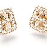 Mattioli Liason Rose Gold Ear Studs with Diamond [MOR112R012]