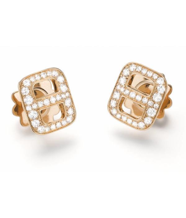 Mattioli Liason Rosegoud oorknoppen met diamant [MOR112R012]