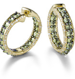 Mattioli Reve_r rose gold creoles with peridots and diamond [MOR137R011PW]