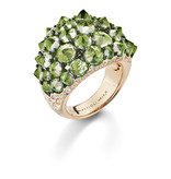 Mattioli Reve_r rosegouden ring met peridot en diamant [MAN137R032PW]