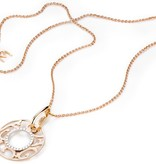 Mattioli Siriana rose gold pendant with ice diamond [MCI083M035I]