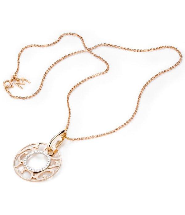 Mattioli Siriana rosegouden hanger met diamant [MCI083M035I]