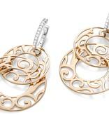 Mattioli Siriana rosegouden oorhangers met diamant [MOR083M036I]
