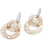 Mattioli Siriana rose gold earrings with diamond [MOR083M036I]