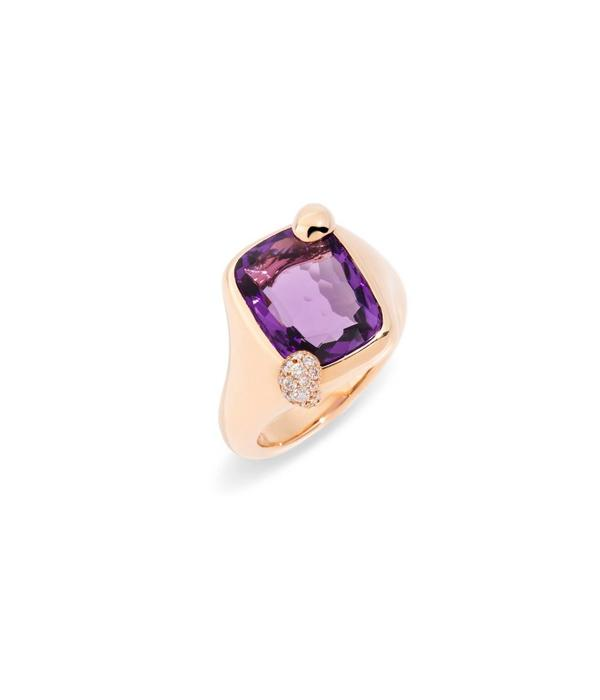 Pomellato Rose Gold 18 carat ring with Amethist