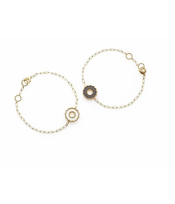Chantecler Yellow Gold 18 carat Anima 70 Bracelet with 1 White Ornament