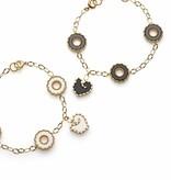 Chantecler armbanden Anima 70 met 4 zwart ornamenten