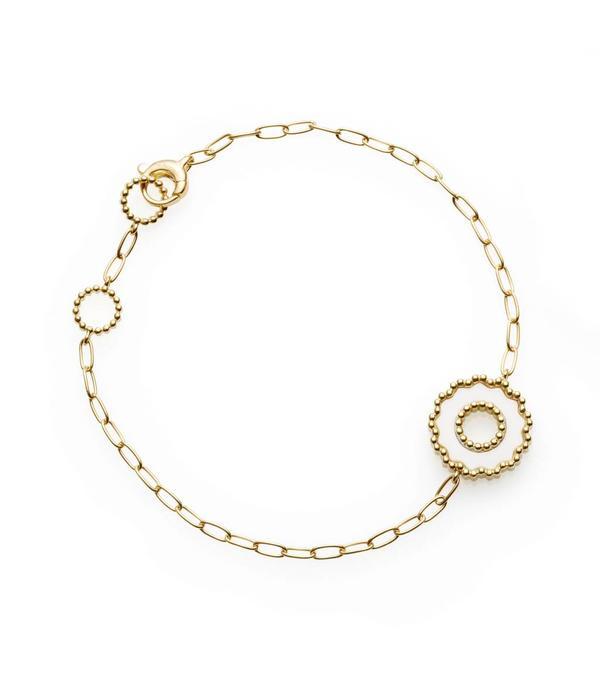 Chantecler Geelgouden 18 Krt. Anima 70 armband met 1 wit ornament