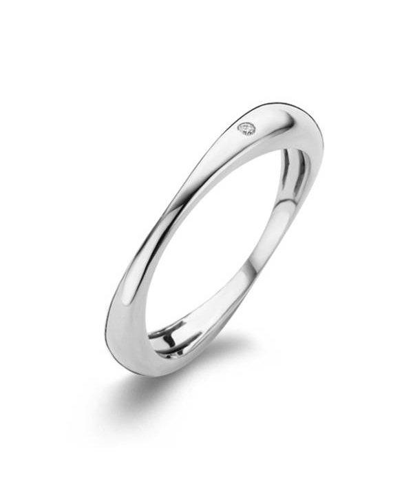 Bigli White Gold 18 carat Flow Ring