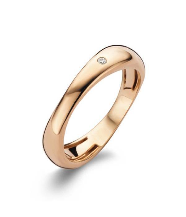 Bigli Rose Gold 18 carat Flow Ring