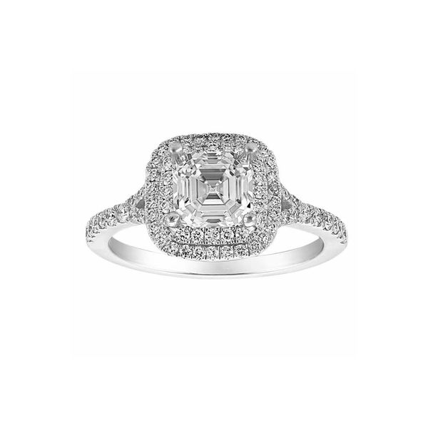 ring solitair entourage pave