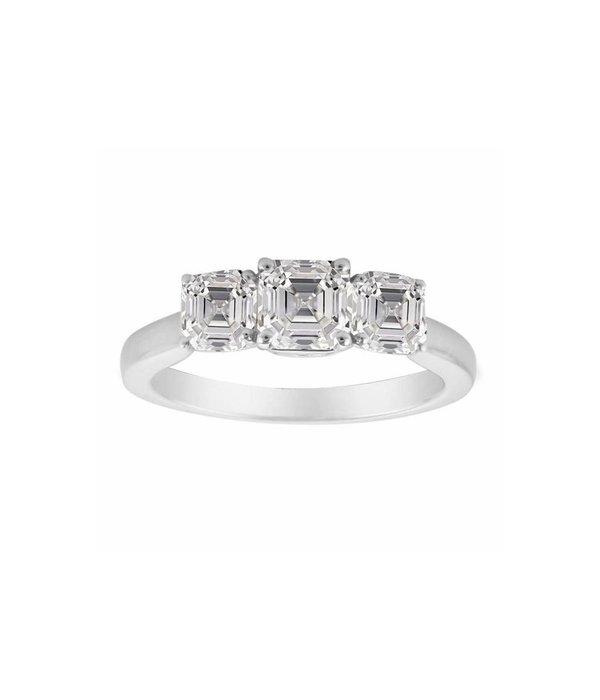 Royal Asscher ring 3-Stone