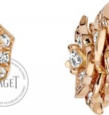Piaget Rose earrings in 18K pink gold, set with 78 brilliant-cut diamonds [approx. 0.92 ct]