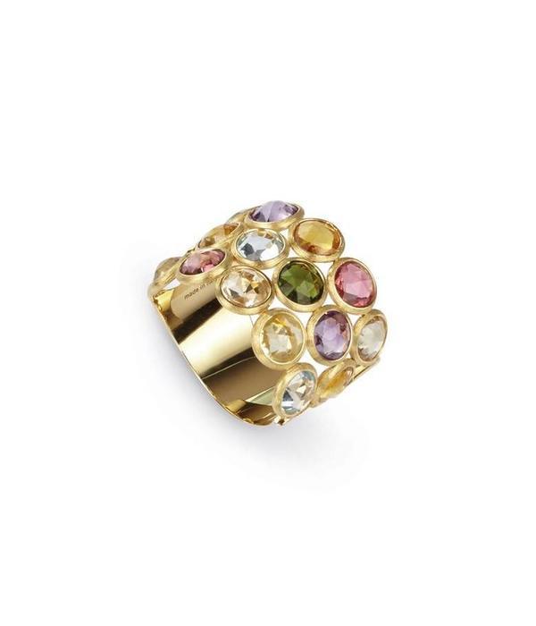 Marco Bicego Jaipur geelgouden ring met diverse kleurenstenen