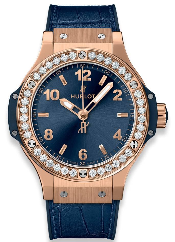 hublot big bang gold blue diamonds 361px7180lr1204