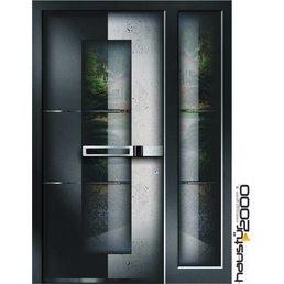Aluminium Haustür HT 6598 FA SF BETON ART