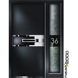 Aluminium Haustür HT 6599 SF FA CARBON ART