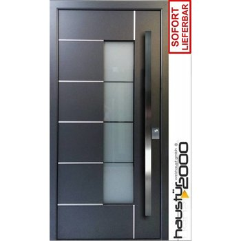 Aluminium Haustür FLÜGELÜBERDECKEND HT 5332.2 FA SOFORT VERFÜGBAR