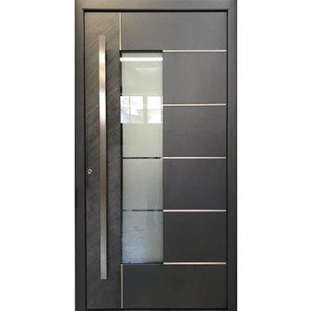 aluminium haust r 5332 bfd beidseitig fl gel berdeckend mit naturstein. Black Bedroom Furniture Sets. Home Design Ideas