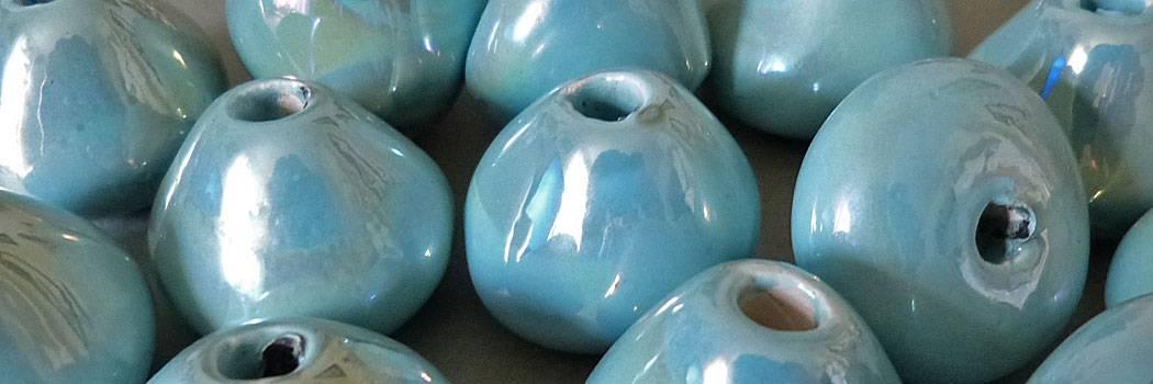 Keramik Perlen lasiert