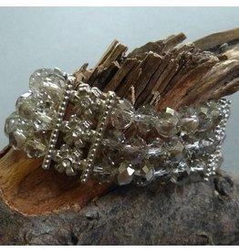 Glas Perlen Armband dreifach