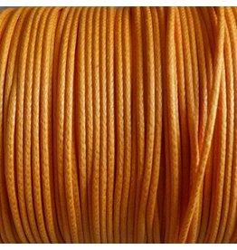 Baumwollband - 1 mm gewachst orange