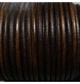 Lederband braun, rund - 4 mm