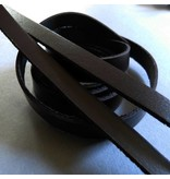 Lederband braun, flach - 10 mm