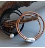 Lederband rehbraun, rund - 4 mm