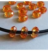 Glas Perle - orange 14 mm